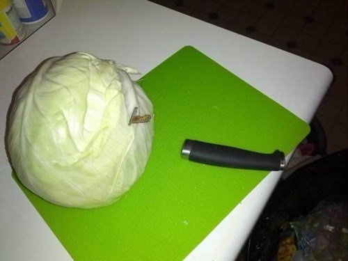 cooking knife cabbage funny - 7466909696