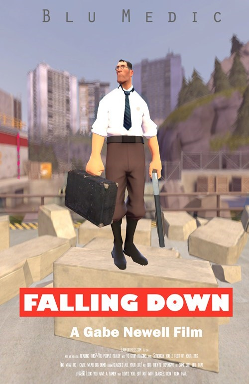 falling down,Fan Art,video games,TF2