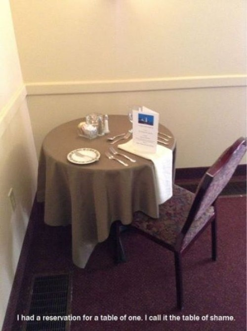 forever alone restaurant funny - 7467062528