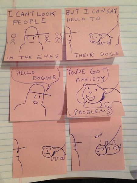 dogs,post its,sad but true,funny