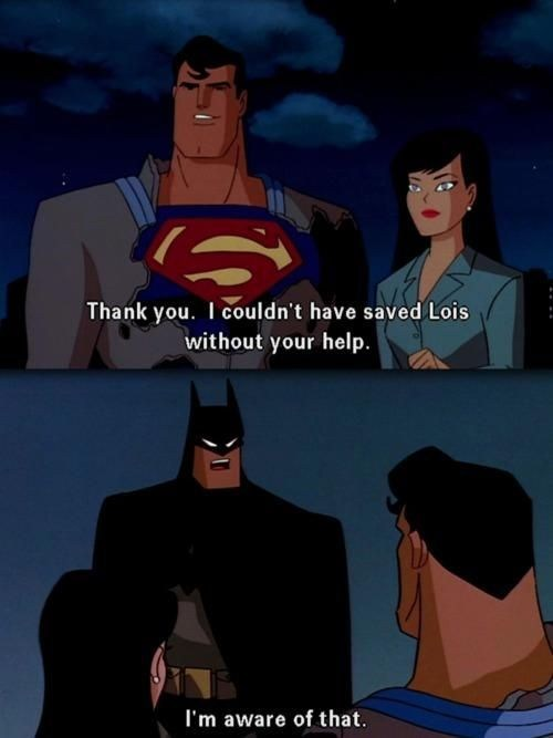 Saturday Morning Cartoons thank you batman funny superman - 7467110400