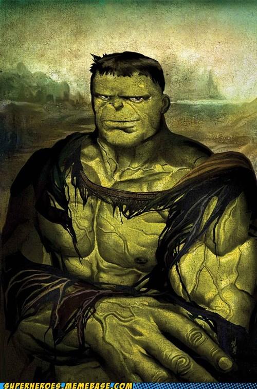 leonardo da vinci mona lisa art hulk funny - 7467254016