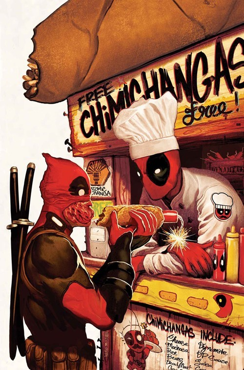 art,deadpool,awesome,chimichanga,funny