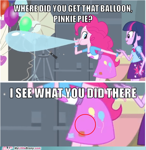 equestria girls I see what you did there pinkie pie funny - 7467452928