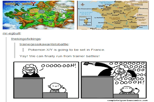 Pokémon,kalos region,france,funny,burn heal
