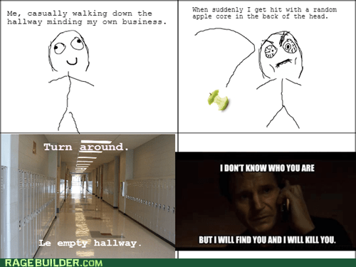 taken school liam neeson funny apple core truancy story - 7467633408