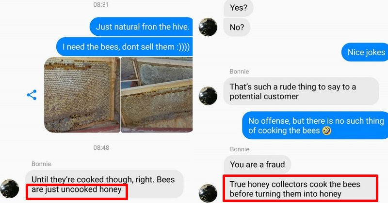 woman believes honey is a bees blood