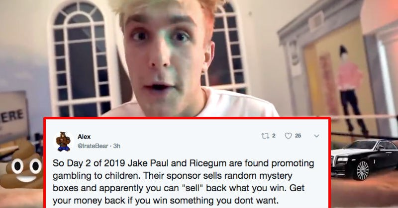twitter gambling jake paul ridiculous reaction ricegum Video - 7468293