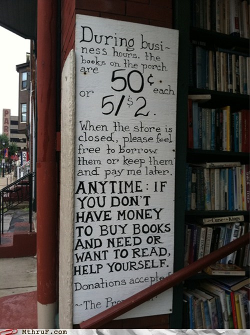 faith in humanity restored,bookstores,books