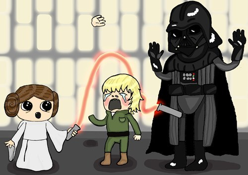 star wars Fan Art funny darth vader - 7470477568