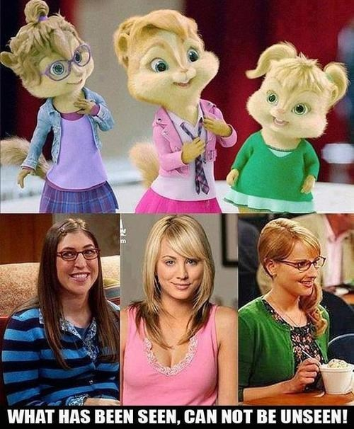 alvin and the chipmunks,totally looks like,the big bang theory