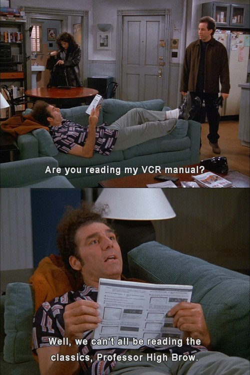 reading,seinfeld,funny