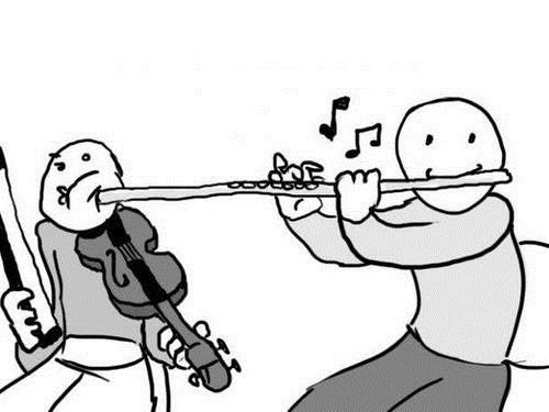 Music flute violin funny orchestra - 7470721536