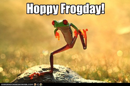 FRIDAY cute frog