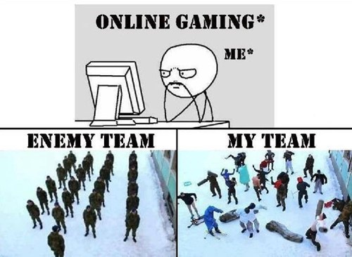 teammates,online gaming,multiplayer games,funny