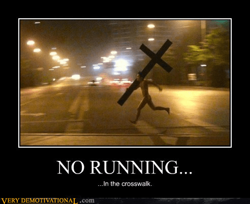 wtf cross running crosswalk funny