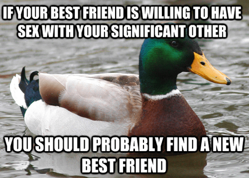 Actual Advice Mallard friends Memes funny