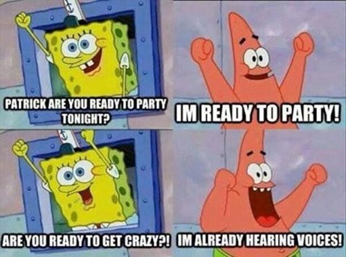 SpongeBob SquarePants,going crazy,patrick,funny