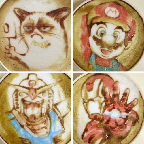 nerdgasm,coffee,latte art,funny