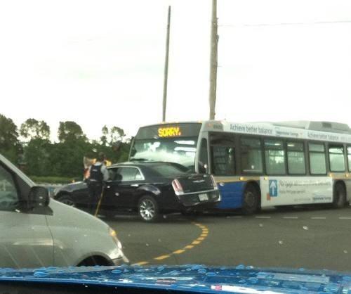 accident car crash car accident bus crash sorry funny bus traffic monday thru friday g rated - 7471810816