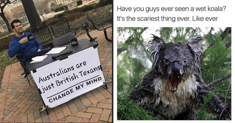 Funny Australian memes.