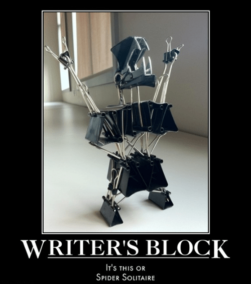 writers block free time funny monster - 7472114176