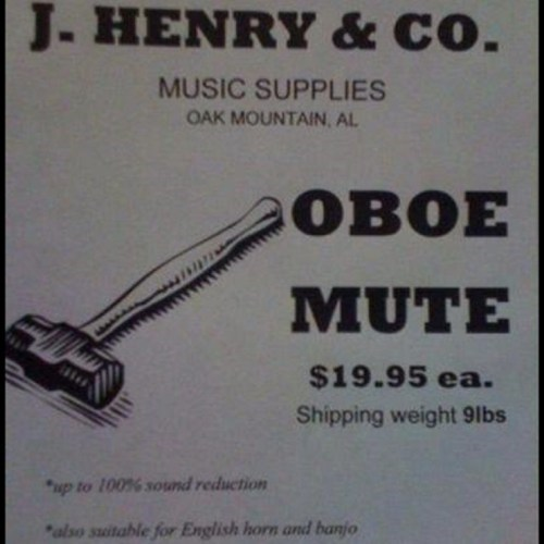 oboe Music sledgehammer mute funny there I fixed it g rated