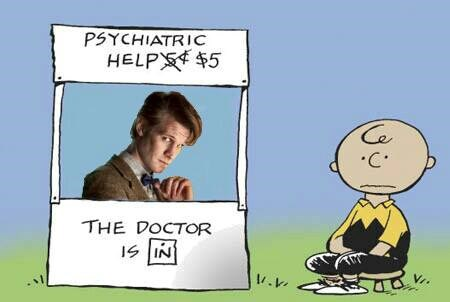 crossover peanuts doctor who