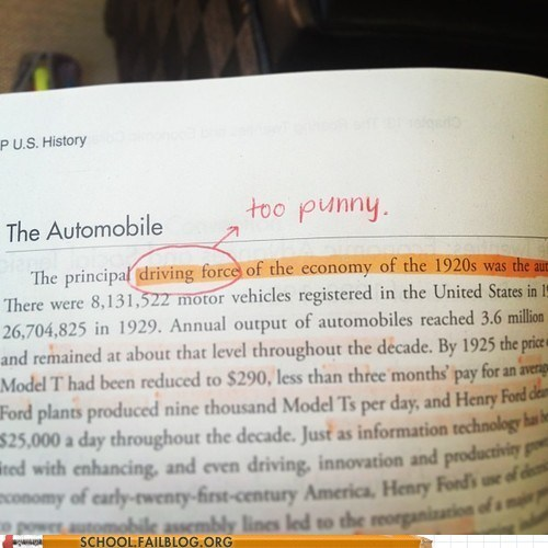automobile history pun book funny - 7474564352