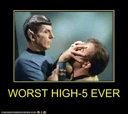 Spock Star Trek high five funny - 7474807296