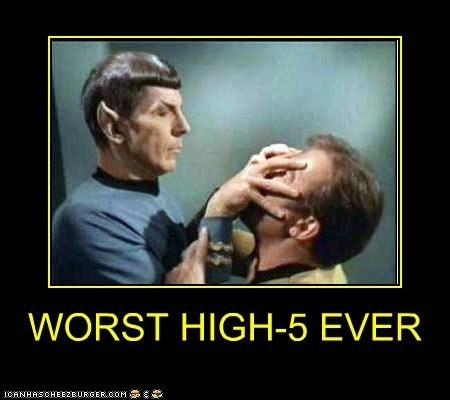 Spock Star Trek high five funny - 7474807296