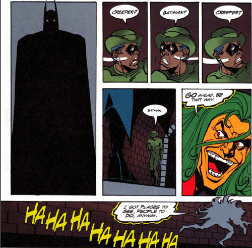 Riddler,the creeper,off the page,batman,funny
