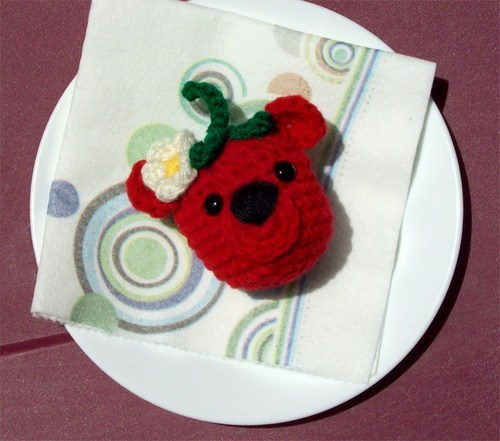 crochet puns cute bear strawberry funny - 7476114688