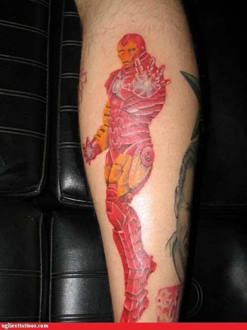 comics,nerdgasm,iron man,funny,g rated,Ugliest Tattoos
