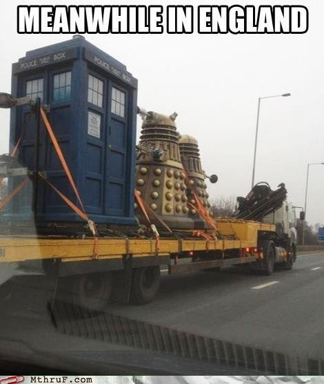 england Meanwhile In England tardis daleks doctor who funny monday thru friday g rated - 7477244416