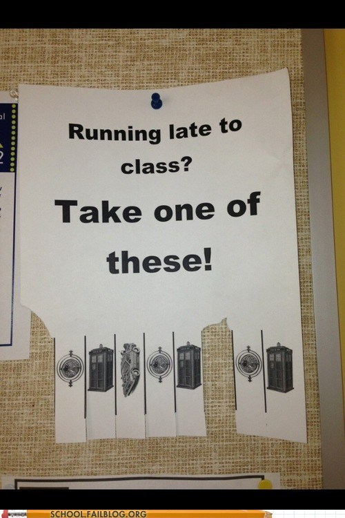 class,science,running late,time travel,g rated,School of FAIL