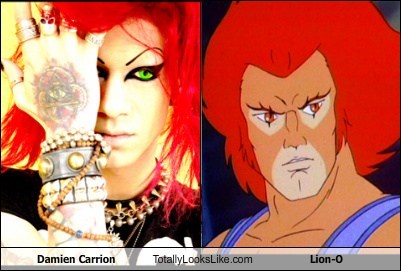 damien carrion,lion-o,thundercats,totally looks like,funny