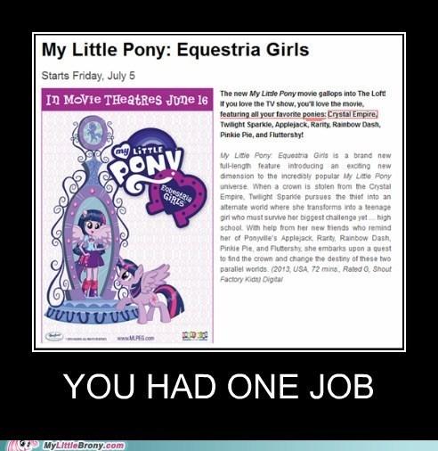 crystal empire equestria girls you had one job funny - 7477291008