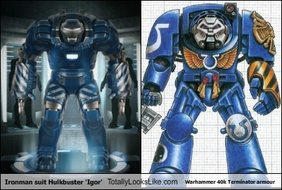 Ironman suit Hulkbuster 'Igor' Totally Looks Like Warhammer 40k Terminator armour