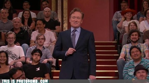 photobomb,funny,conan o' brien