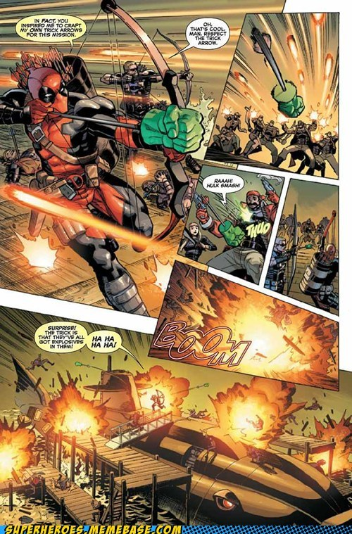 explosives deadpool off the page fist funny surprises - 7478108928