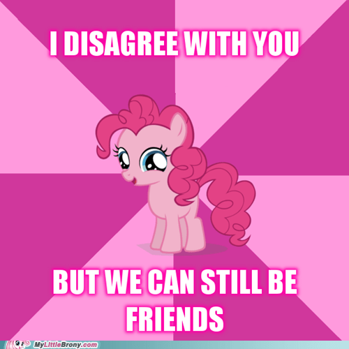 love and tolerate friends pinkie pie funny - 7478326272