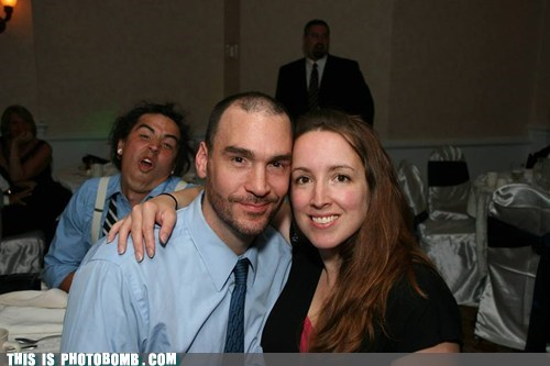 photobomb wedding reception funny