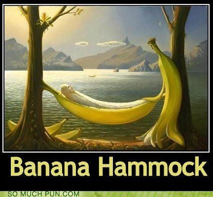 banana hammock,puns,funny