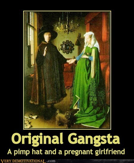 gangsta old school painting funny - 7479447040