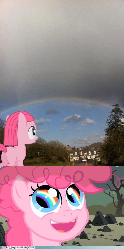 rainbows IRL pinkie pie sonic rainboom funny