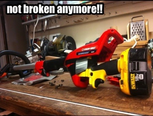 power tools duct tape funny there I fixed it - 7480136448