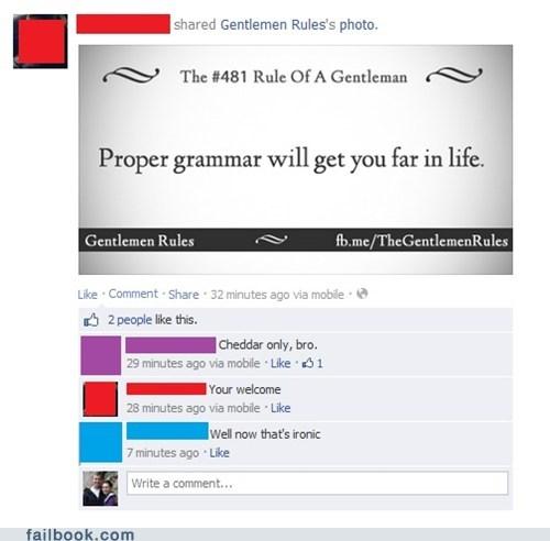 proper grammar,grammar,gentlemen,irony,funny