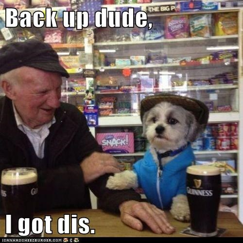 top dog funny back up