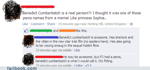 benedict cumberbatch Lord of the Rings funny failbook - 7481014272